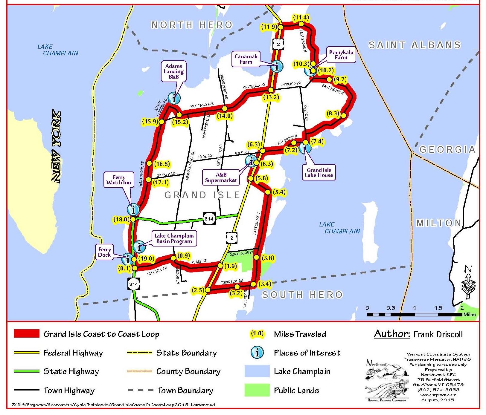 Grand Isle CoasttoCoast Cycle the Islands of Lake Champlain